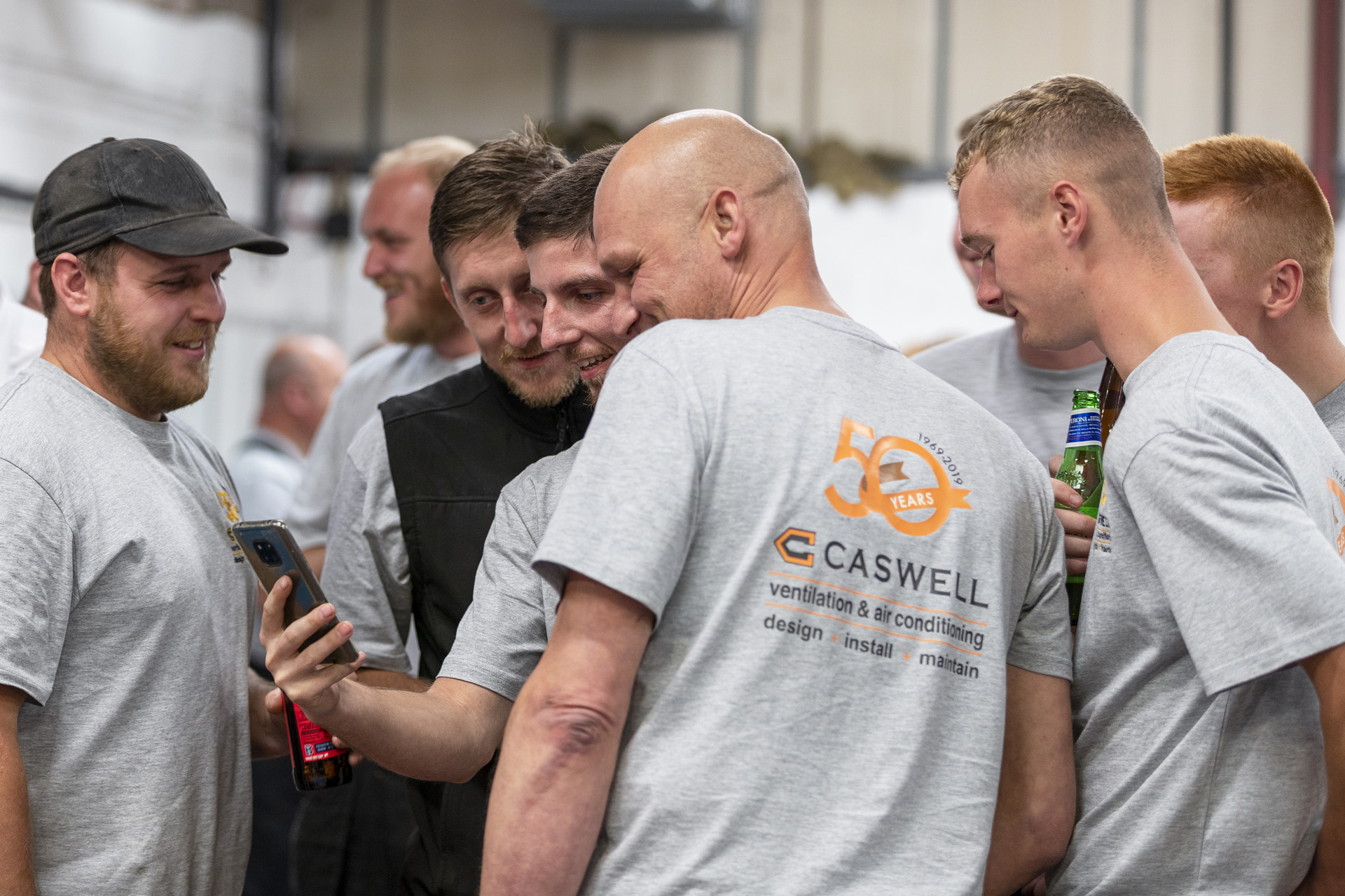 Caswell,employees,50th anniversary