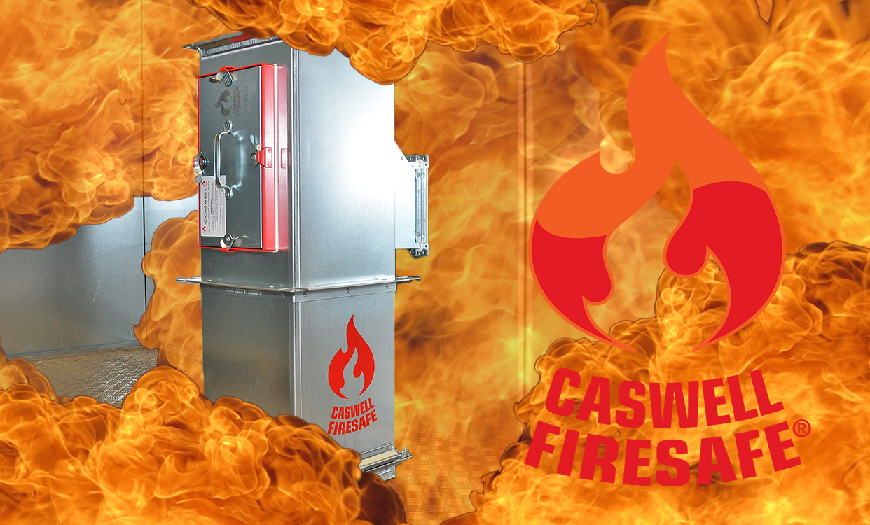 CASWELL FIRESAFE® logo and fire duct