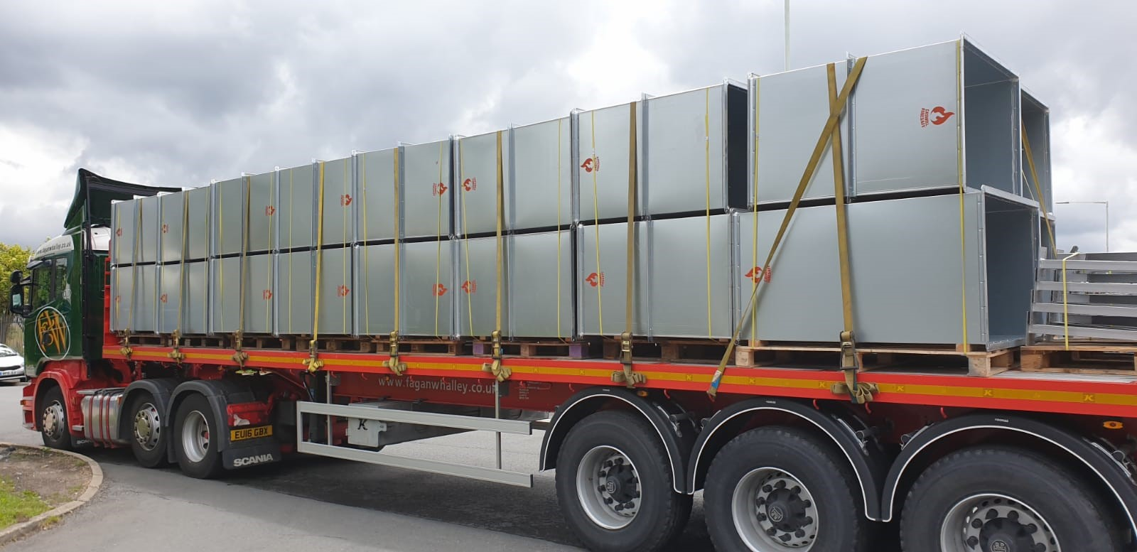 CASWELL FIRESAFE® ductwork on its way to Oxygen Towers project Piccadilly, Manchester