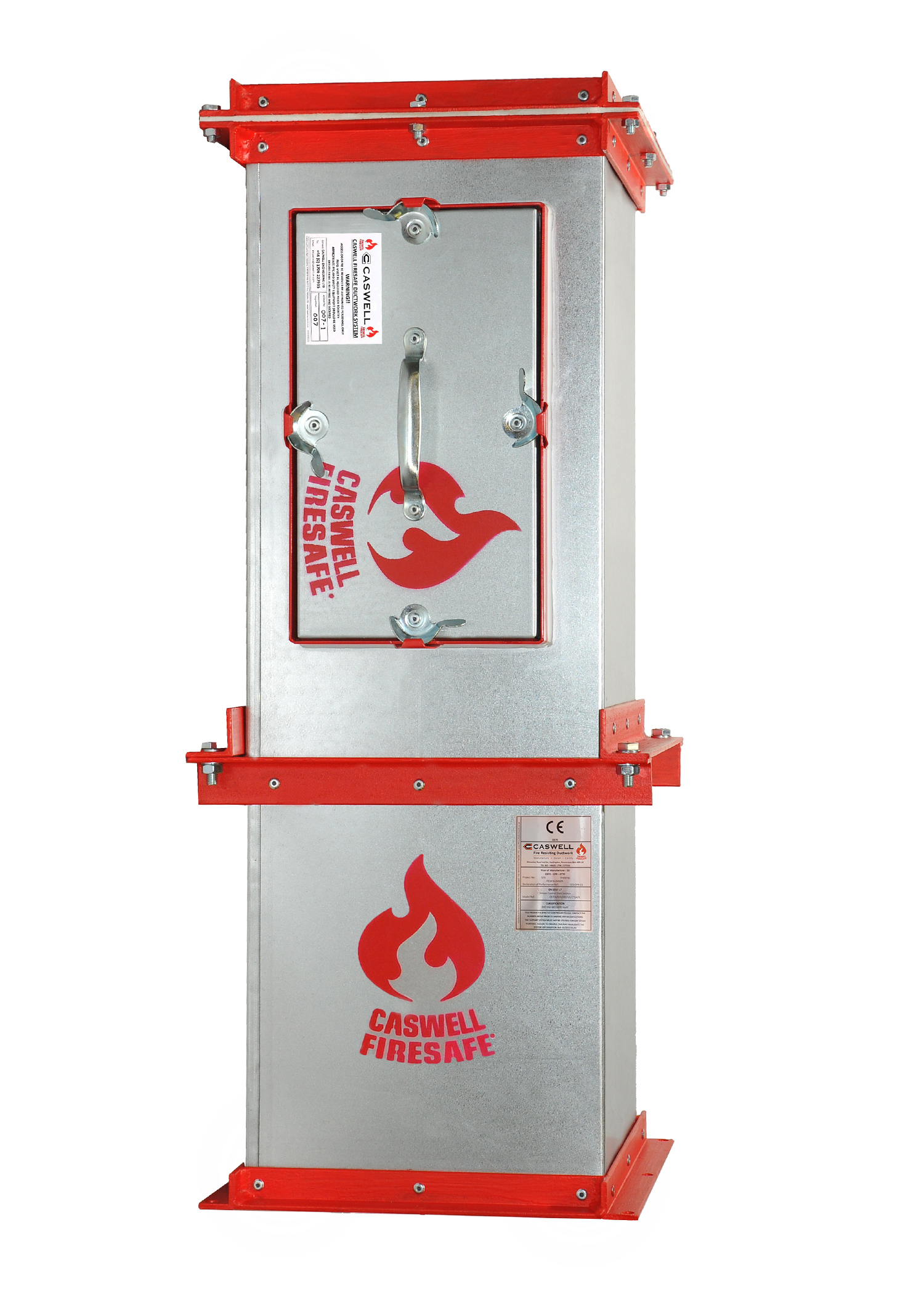 CASWELL FIRESAFE® rectangular, non-coated fire resisting ductwork (EN 1366-1 & 8 specification)