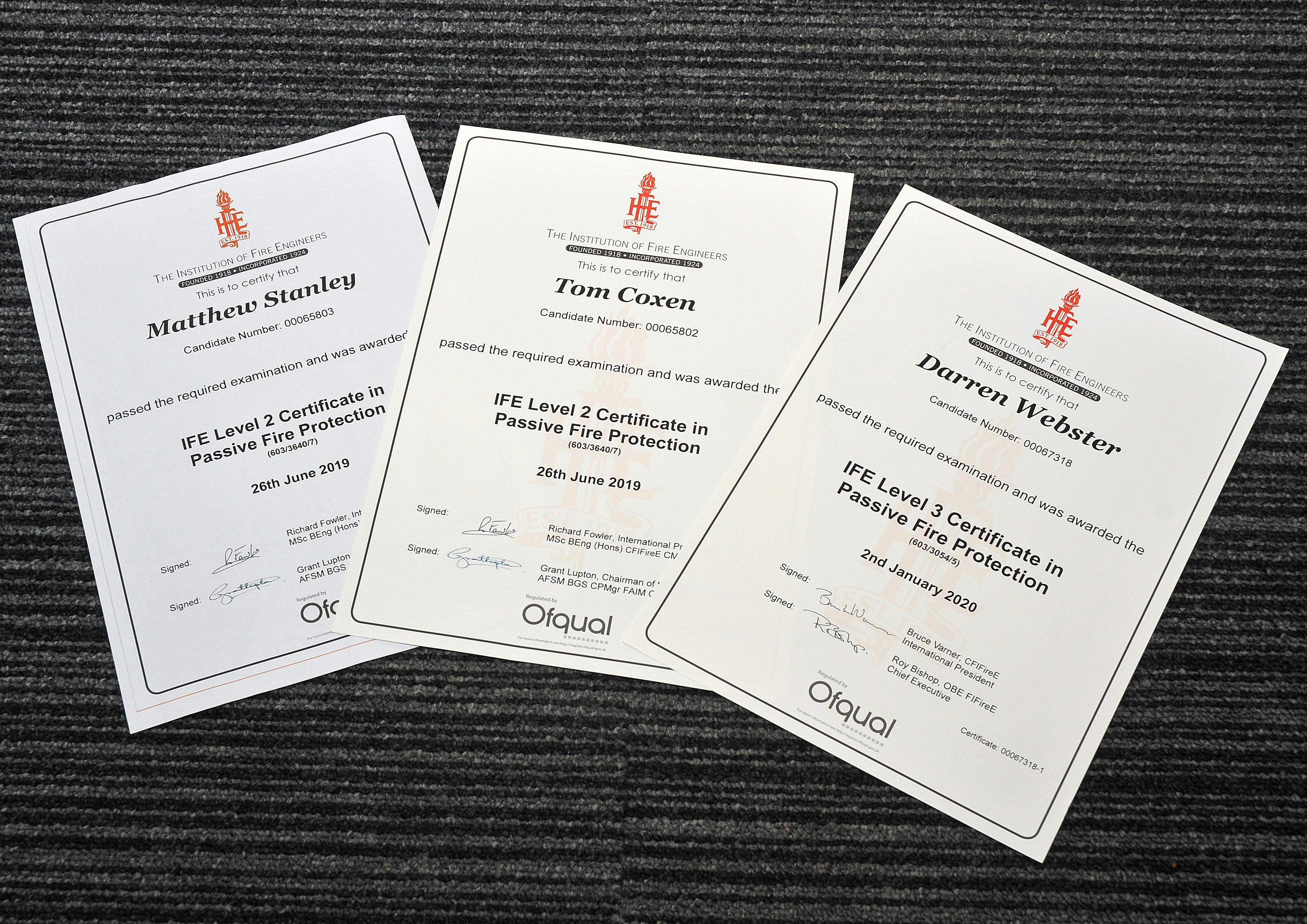 IFE Certificates